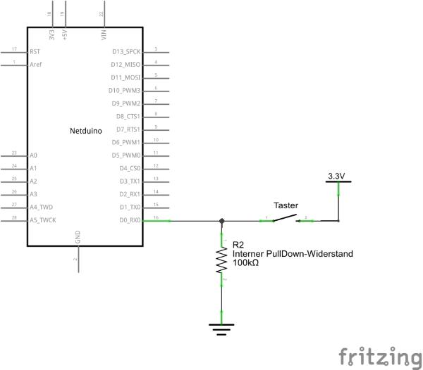 Schaltplan Schalter über PullDown an InputPort