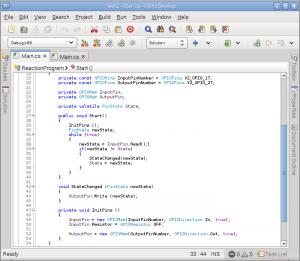 RaspbianCSharpSharpDevelopScreenshot